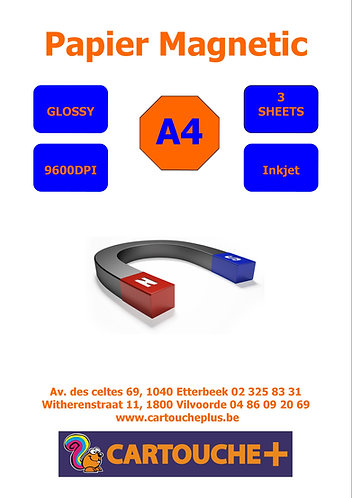 Papier Magnetic A4  - Glossy 5 Feuilles