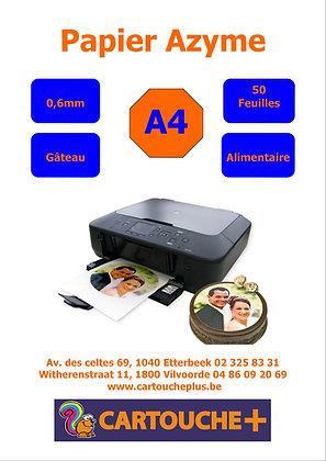 Papier Azyme 0,6mm - 50 feuilles