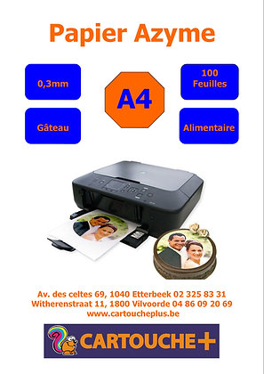 Papier Azyme 0,3mm - 100 feuilles