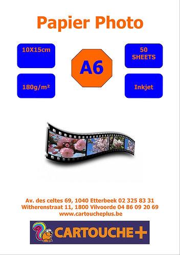 Papier Glossy A6 10x15 180g 50 Feuilles