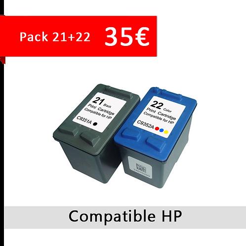 Cartouche HP 21 + 22