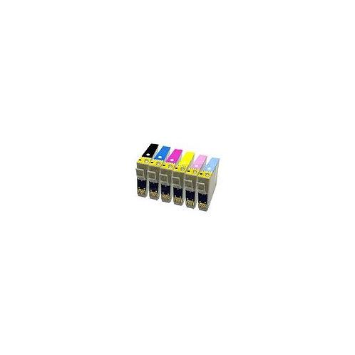 Pack Epson compatible T0797 -  6 + 1 gratuite
