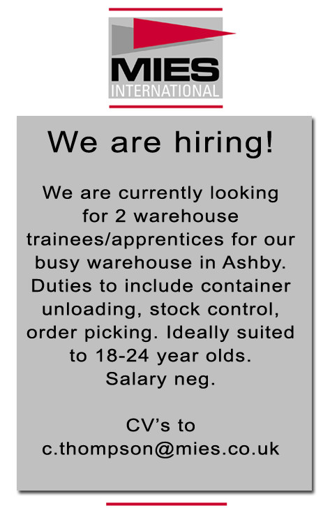 Vacancy Ashby de la Zouch