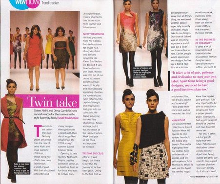 What to wear magazine talking to Divvya & Nidhhi