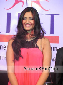 Sonam Kapoor Sizzles at L'Oréal Annual Conference 2012 in a Walnut Outfit