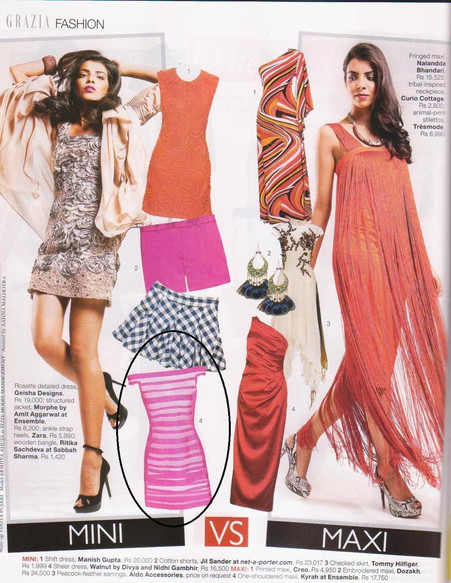 Grazia India Edition features Walnut Spring Summer 2011 collection