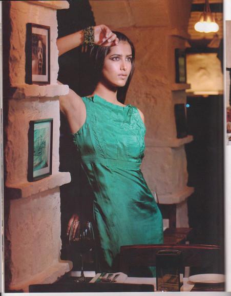 Model in Walnut dress for Femina Magazine photo shoot