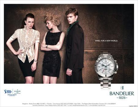 Bandelier model in Walnut Black Textured Shift Dress