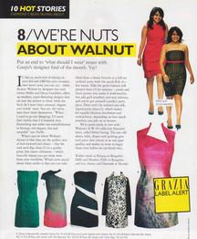 Grazia features Walnut Autumn Winter 2009 collection