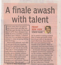 Critics Response to AW '09 Collection at Lakme Fashion Week, India