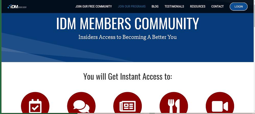 IDM Member's Community