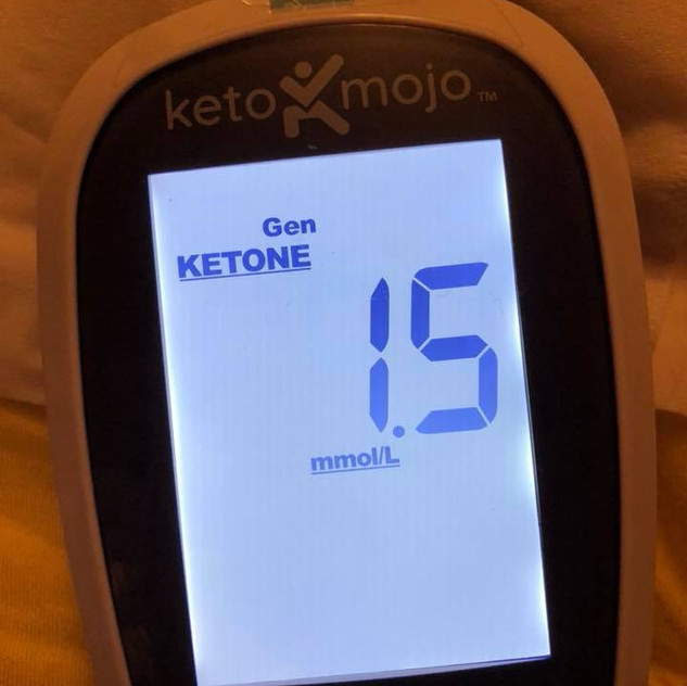 june 13 Blood ketones about 3 hours post meal (still dropping probably because 930 pm insulin starts to rise slightly in evening)
