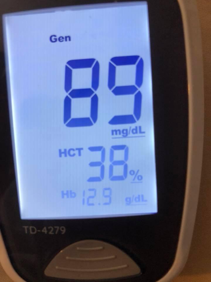 june 17 Blood sugars fasting am