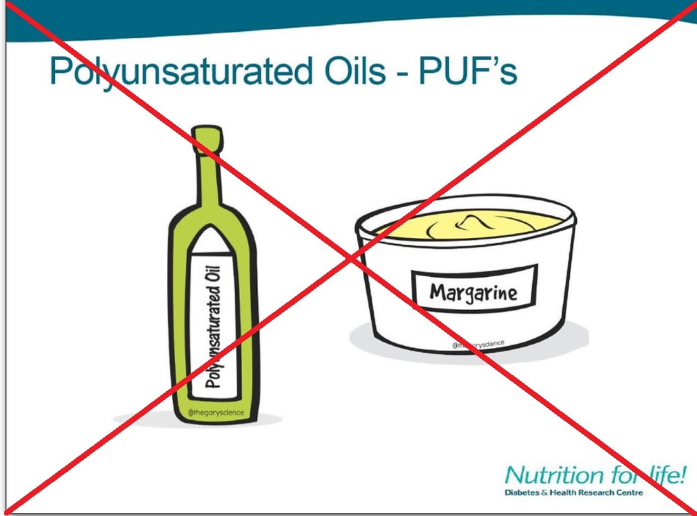 Polyunsaturated Oils, no thanks!
