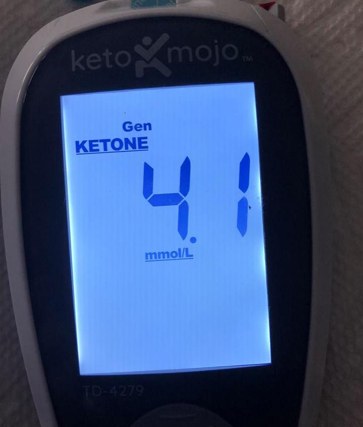 June 14 Blood ketones pre-meal (5 pm)