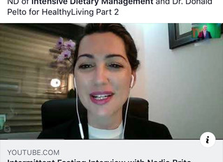 Intermittent Fasting Interview for Healthy Living with Dr. Donald Pelto