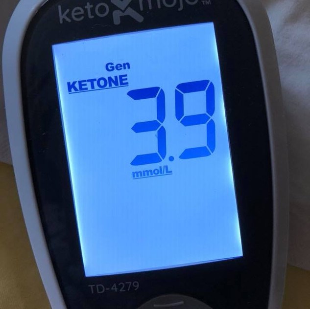 june 13 Blood ketones at about 76h fasted