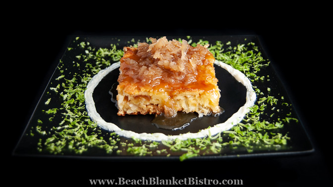 Coconut White Chocolate Bread Pudding
