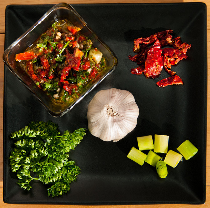 Something for the Grill- Sun dried Tomato Chimichurri