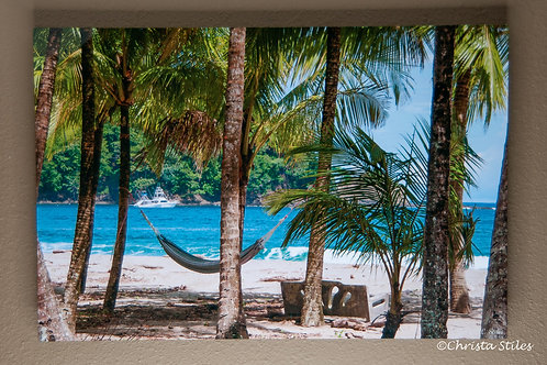 """Hammock on Playa Carrillo"" Limited Edition Print on Metal"