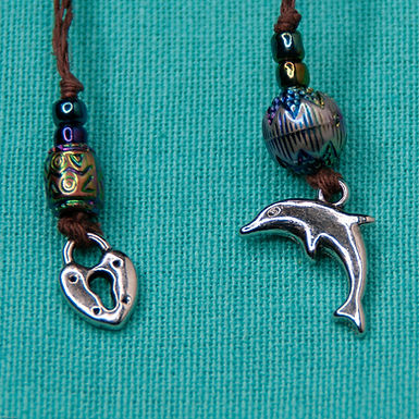 Dolphin and Heart Bookmark