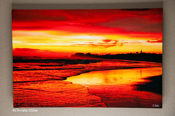 """""""Fire Hand Sunset"""" Limited Edition Print on Metal"""