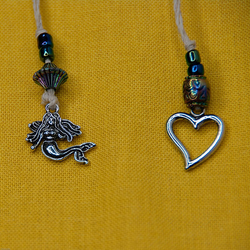Mermaid and Heart Bookmark, Large