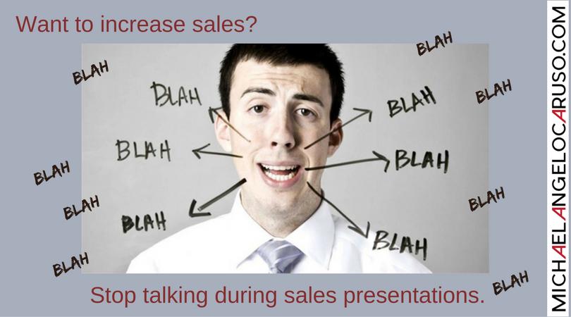 Stop talking when selling