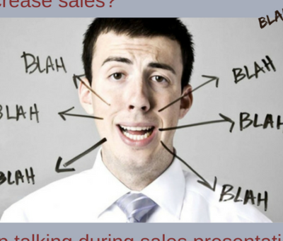 Salespeople talk too much