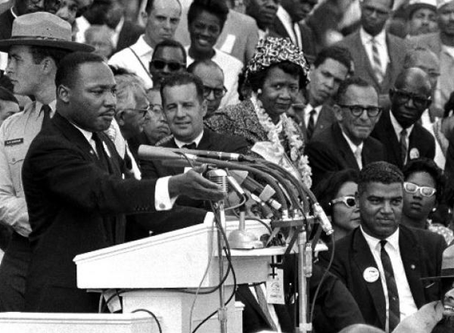 """Martin Luther King's recurring """"I have a dream"""" speech"""
