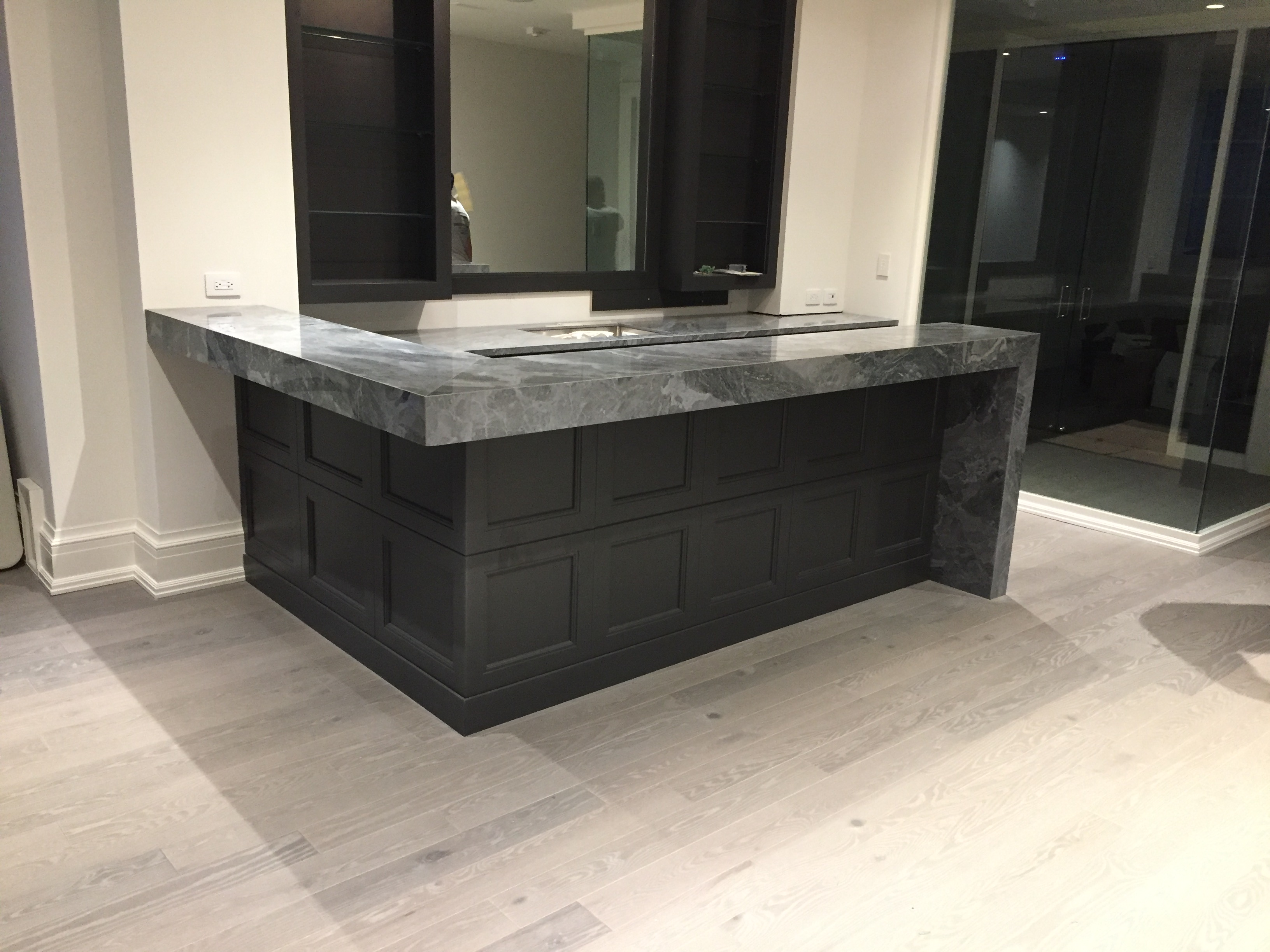 marble countertops in kitchen