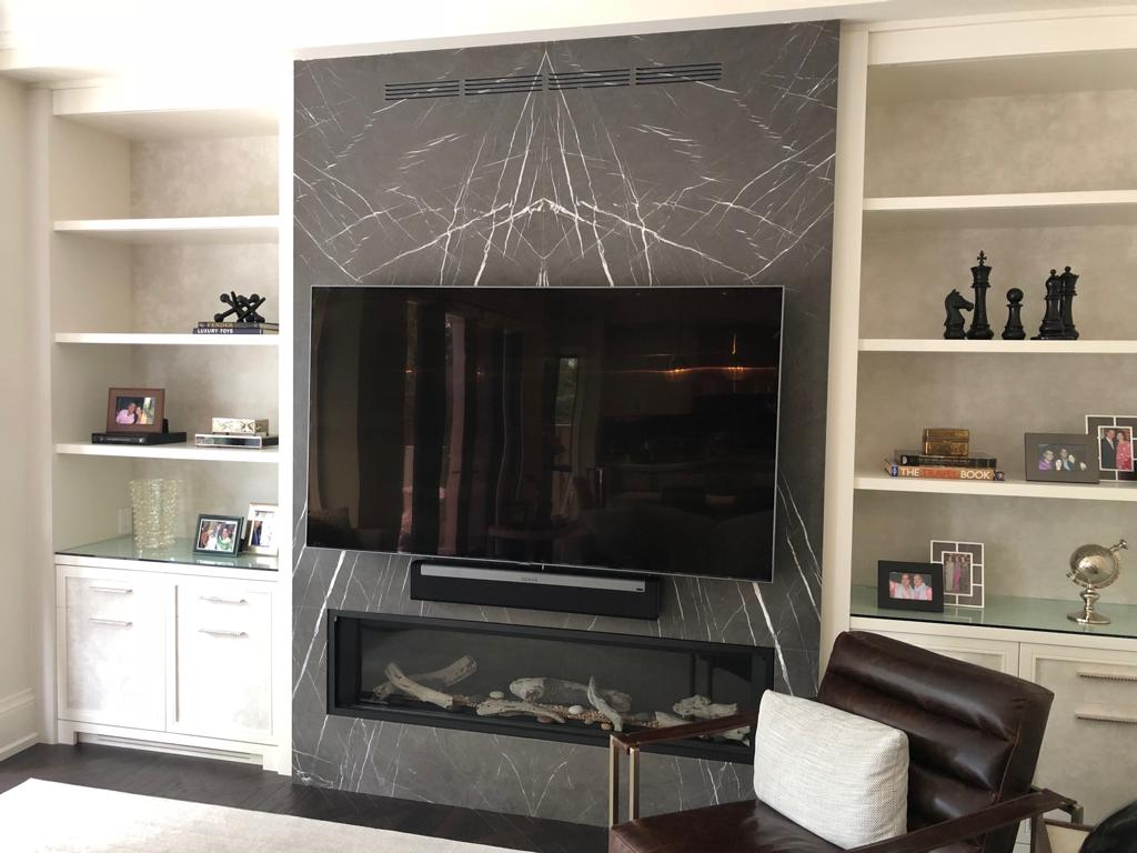 Fireplace gray