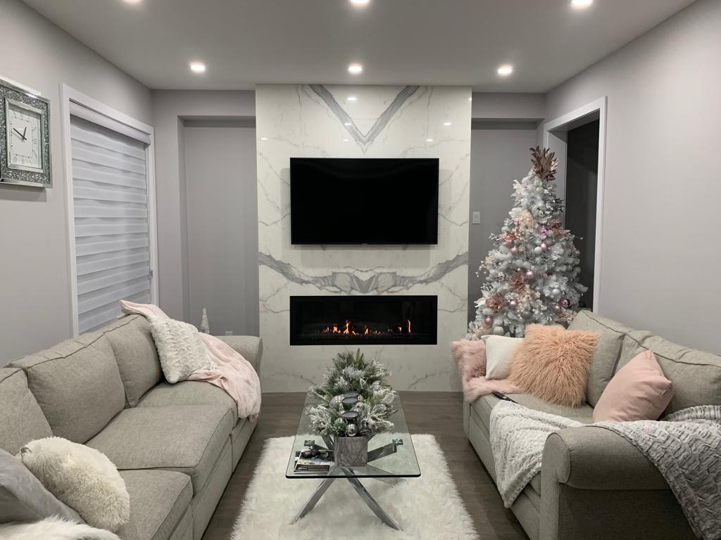 Porcelain Fireplace Calacatta