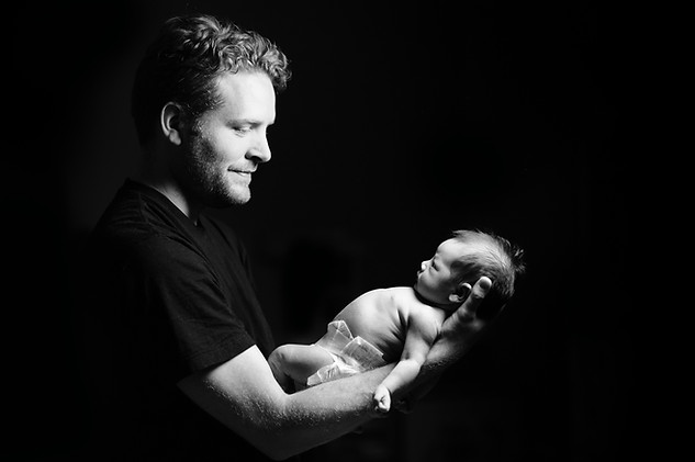 Life Photographic dad and Baby Photography Nottingham  studio