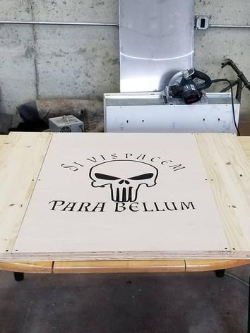 Custom Wording on Punisher Skull