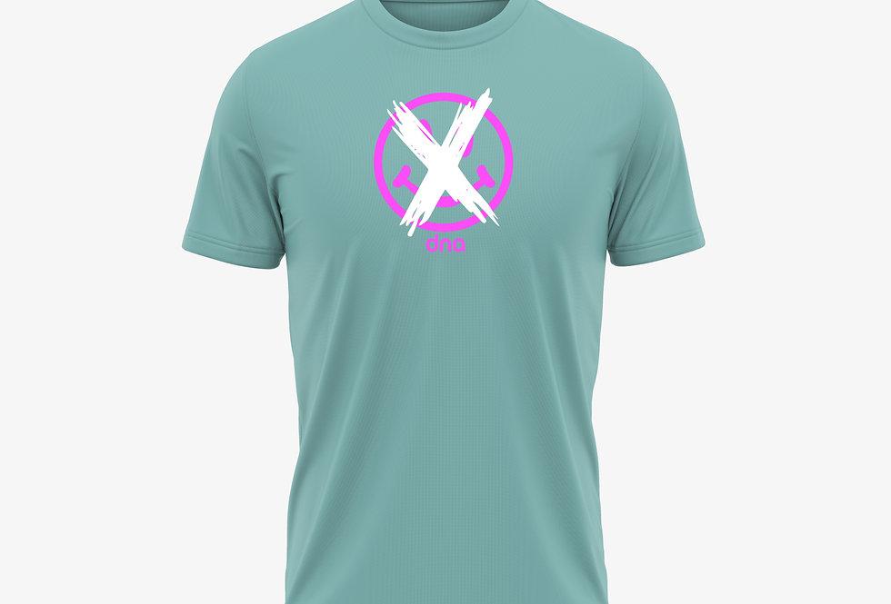 DNA Smiley T-shirt Teal