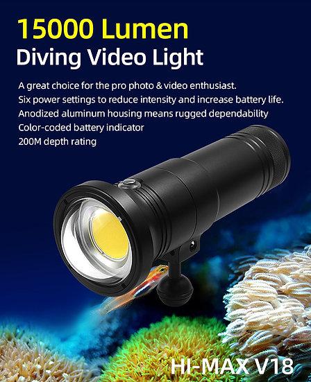 HI-MAX V18 Set Photo Video Led Light 15000lm 5600K CRI(Ra) 95