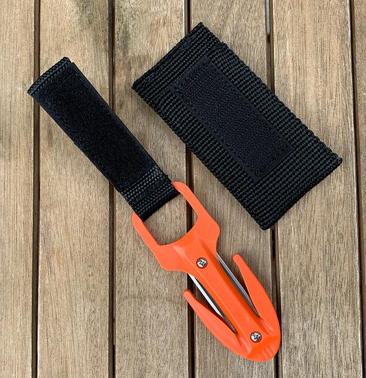 Scuba Diving Spearfishing Fishing Twin Blade Pro Line Cutter Orange With
