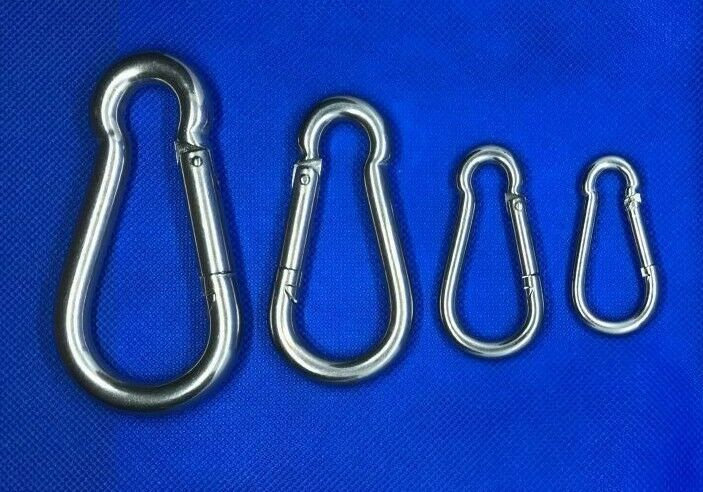 CARBINE SNAP HOOK STAINLESS 316 MARINE GRADE SCUBA DIVING CLIMBING BOAT HARDWARE