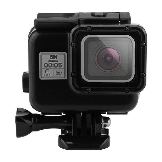 Diving Black Waterproof Case Housing Touchable Back Door GoPro Hero 5 6 7 Black