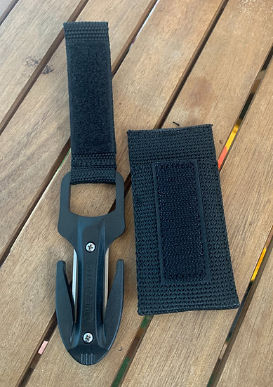 Scuba Diving Spearfishing Fishing Twin Blade Pro Line Cutter Black With Pouch