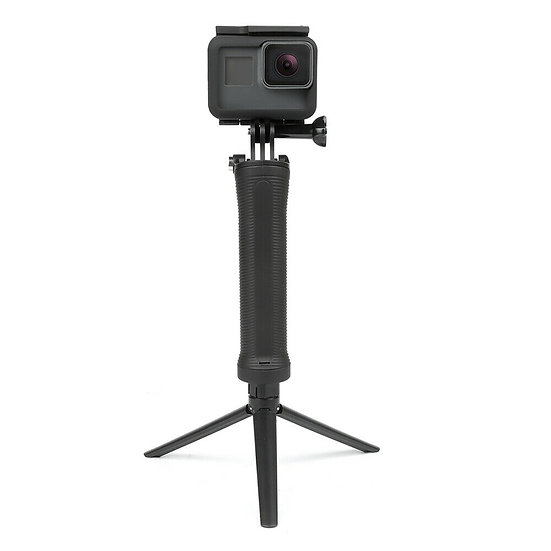 3 Way Mount With Tripod Foldable Selfie Stick For GoPro