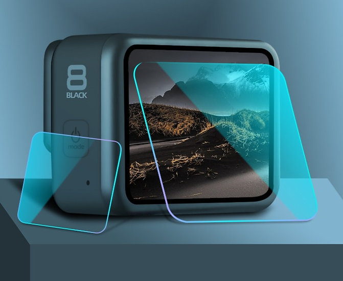 GoPro Hero 8 LCD Screen and Lens Tempered Glass Protector