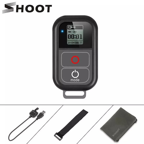 WiFi Remote Control with Charger Cable Wrist Strap Waterproof GoPro 8 7 6 5 4 3