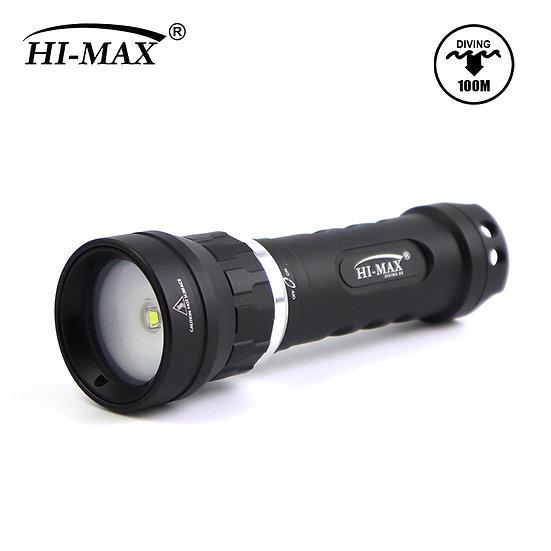 Hi-Max X8 SCUBA DIVING PHOTO VIDEO LED LIGHT CREE XM-L U2 860 LUMEN 100 DEEP