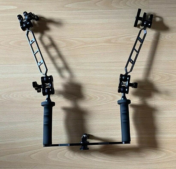 Diving Underwater Photography Stabiliser Handle with Extensions Arm for GoPro