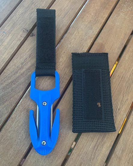 Scuba Diving Spearfishing Fishing Twin Blade Pro Line Cutter Blue With