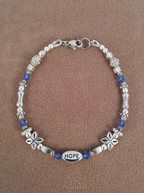 Blue Line Support Bracelet