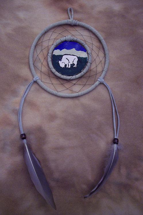 White Buffalo Shield Dream Catcher