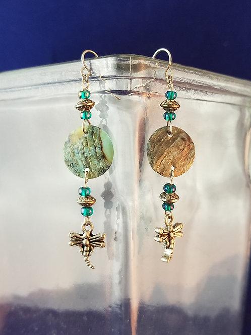 Shell & Pewter Earrings